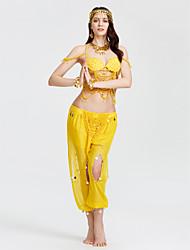 Nós roupas de dança do ventre mulheres desempenho acrílico bra tanga
