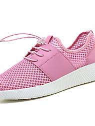 Femme-Décontracté-Gris clair Rose Vert clair-Talon Plat-Confort-Chaussures d'Athlétisme-Tulle