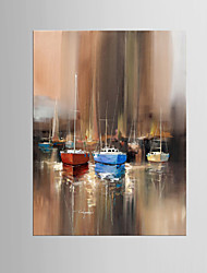 Giclee Print Abstract Modern Mediterranean,One Panel Canvas Vertical Oil Painting Wall Decor For Home Decoration