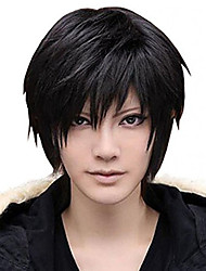 Amybria Men's Beautiful Male Black Short Straight Hair Wig/Wig Cosplay Party