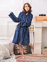 Winter coral velvet flannel couple models home service thickening warm pajamas skirt