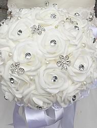 Свадебные цветы Круглый Розы Букеты Свадебное белье Бусинки Поролон Стразы 30 см