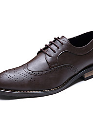 Men's Oxfords Spring Summer Formal Shoes Leather Wedding Office & Career Party & Evening  Brown Black Walking Shoes