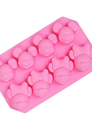 1Pcs 8 Holes Mold 3D Cartoon For Candy For Ice For Chocolate Silicone Birthday Holiday Mouse Silicone Mold 19.7x12x2.85cm(7.75x4.72x1.1INCH)