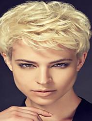 Diy удобный короткий курчавый волос человеческих волос парик соответствующий для всех видов людей