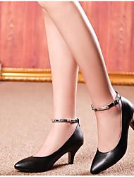 Damen-High Heels-Lässig-PUKomfort-Schwarz Mandelfarben