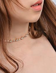 Women's Choker Necklaces Rhinestone Jewelry Rhinestone Rhinestone Euramerican Fashion Personalized Jewelry ForParty Special Occasion
