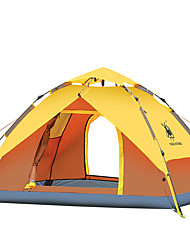 3-4 persons Tent Double Automatic Tent One Room Camping Tent Fiberglass Oxford Waterproof Windproof Ultraviolet Resistant Foldable-Hiking