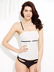 Women's Bandeau One-piece,Solid Polyester White