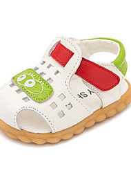 Kids' Baby Sandals First Walkers Cowhide Summer Casual First Walkers Flat Heel White Brown Blue Flat