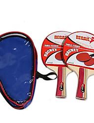 2 Звезды Ping Pang/Настольный теннис Ракетки Ping Pang Резина Короткая рукоятка Прочее