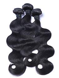 Cabelo Humano Ondulado Cabelo Peruviano Onda de Corpo 12 meses 3 Peças tece cabelo