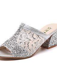 Damen-Sandalen-Büro Kleid-PU-Blockabsatz-Komfort-