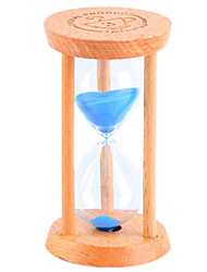 Small Hourglass Pendulum Countdown 1/3 / 5 Minutes Time Mini Glass Wood Gift