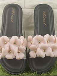 Women's Sandals Slingback Rubber Summer Casual Flat Heel White Black 1in-1 3/4in