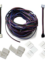 A set- LED Strips Connectors Full Kits Strip to Strip Jumper L-Shape Corner Connector RGB Extension Cable Gapless Connector Strip to Control box