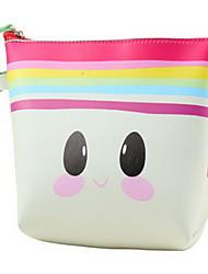 Makeup Storage Cosmetic Bag Makeup Storage Nylon Solid Blue Green Pink