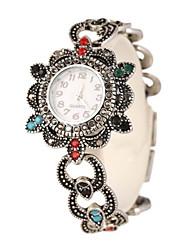 Damen Armband-Uhr Quartz Legierung Band Silber