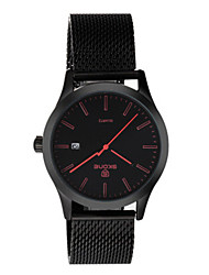 Men's Fashion Watch Quartz Nylon Band Black