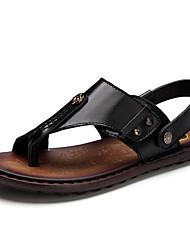 Men's Sandals Summer Comfort Light Soles Cowhide Outdoor Casual Flat Heel Studded Water Shoes