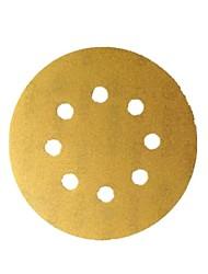 Bosch Sand Schüssel 125mm p600-8 Loch zurück Stapel Sand Scheibe Sand Papier / 10 Stück