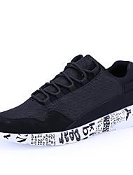 Herren-Sneakers Frühjahr fallen Komfort Tüll lässig schwarz / weiß grau schwarz