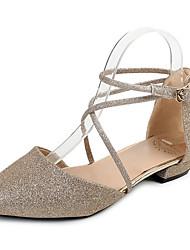 Women's Sandals Summer Comfort PU Outdoor Flat Heel Silver Gold