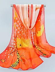 Sunscreen Silk Chiffon Female Mmother Thin Long Scarf Shawls