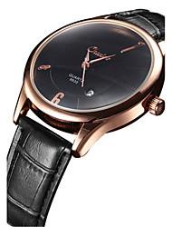 Masculino Relógio de Moda Chinês Quartzo Couro Banda Preta
