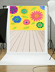 5x7ft flor parede chão fotografia fundo estúdio adereços azul tábua tema novos