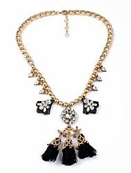 Femme Pendentif de collier Forme Géométrique Gland Personnalisé Bijoux de Luxe Un ruban/ Noir Bijoux Pour Mariage 1pc