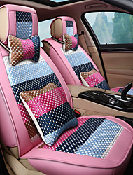 Colorful Cartoon silkLeatherwearBusiness Car 7 Seater Van Seven Car seat Cushion Leather Four Seasons Cushion Seat Cover
