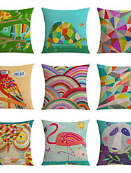 9 pcs High Quality Linen Pillow Case Body Pillow Travel Pillow Sofa Cushion Novelty PillowNovelty Geometric Nature Animal Print Graphic Prints