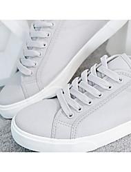Herren-Sneakers Frühling Komfort Leinwand Tüll lässig grau schwarz weiß