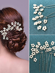 6 Pieces /Set Imitation Pearl Headpiece-Wedding Special Occasion Hair Pin Hair Stick Hair Tool for Wedding Party Bride Hair Jewelry