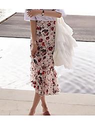 Women's Midi Skirts Swing Floral