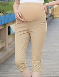 Expectant Mother's Pure Cotton And Comfortable Seven Pencil Pants Render Feet Pants Abdomen Slacks