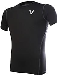 Unisexe Tee-shirt de Course Respirable Confortable Shirt pour Exercice & Fitness Course/Running Serré Noir XL XXL XXXL 4XL