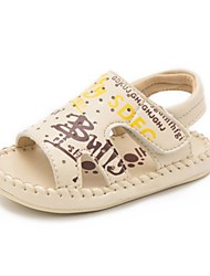 Kids' Baby Sandals First Walkers Leatherette Summer Casual First Walkers Flat Heel White Beige Gray Flat