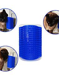 Gatto Cane Pennello Elastici Massaggio Blu