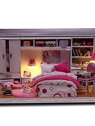 Casa de Boneca Brinquedos Criativos & Pegadinhas Quadrangular Madeira