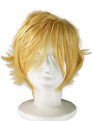 Yellow Color Synthetic Fiber Cosplay Anime Wig Capless Curly Stylelish For Cos
