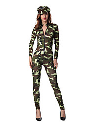 Cosplay Costumes Soldier/Warrior Festival/Holiday Halloween Costumes Camouflage Fashion Leotard/Onesie Halloween Carnival Female