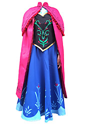 Teenage Girls Cosplay Costume Kids Halloween Blue Princess Dress