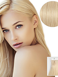 20PCS Tape In Hair Extensions #613 Beach Blonde 40g 16Inch 20Inch 100% Human Hair For Women