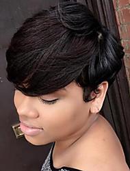 DIY Refreshing  Short Hair  Fluffy  Human Hair Wig   Elegant Woman hair