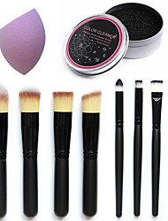 8pcs Makeup Brushes & Washing Brushes Box& Facial Makeup Sponge Cosmetic Puff Flawless Beauty Powder Puff Make Up Sponge