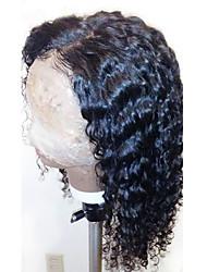 Perucas cheias quentes do laço perucas completas brasileiras encaracoladas do cabelo humano do laço com cabelo do bebê 130% densidade