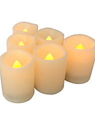 Sett med 6 flameless stearinlys flameless votive candles led votives med timeren batteridrevne ledet lys med timer lang batterilevetid