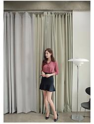Feminino Camisa Saia Conjuntos Casual Trabalho Simples FofoCor Única Colarinho de Camisa Micro-Elástico